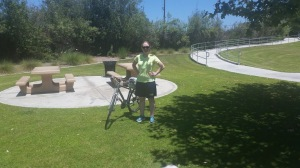Me at the turnaround point! 7.2 miles down, 7,2 miles to go!